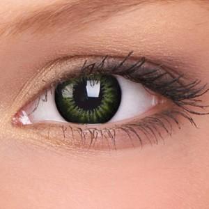 barevné čočky nedioptrické BIGEYES party green (2 čočky)
