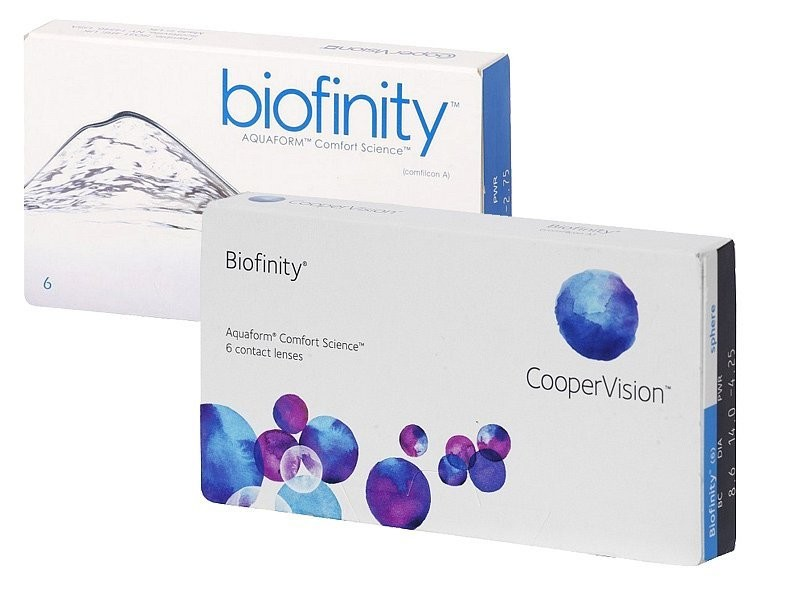 Biofinity (6 čoček) + roztok Renu MPS Sensitive Eyes 360ml