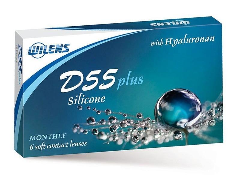 kontaktní čočky D55 Plus Silicone (6 čoček)