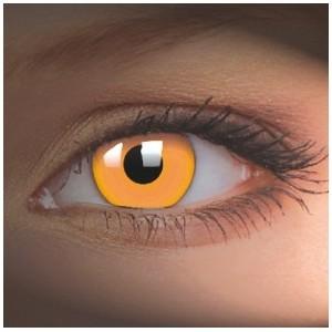 svítící  CRAZY glow orange UV (1 roční čočka)