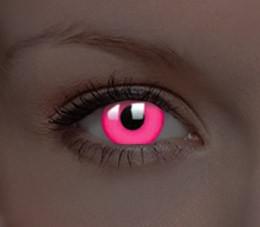 svítící CRAZY glow pink UV (1 roční čočka)