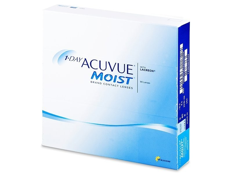 1•DAY ACUVUE MOIST (90 čoček)