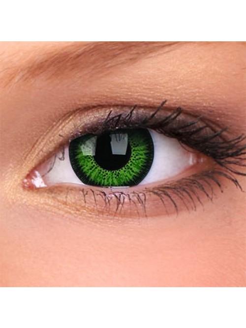 barevné čočky nedioptrické Phantasee Vivid Green (2 čočky)