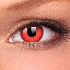 CRAZY čočky dioptrické - red devil (2 čočky)