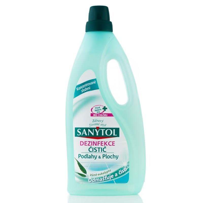 Sanytol dezinfekce antialergenní čistič na podlahy a plochy - Eukalyptus 1 l