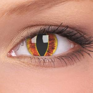 barevné čočky CRAZY saurons eye 1ks roční
