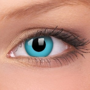 barevné nedioptické čočky jednodenní CRAZY sky blue