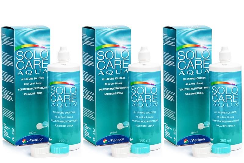 roztok SoloCare Aqua 3 x 360 ml