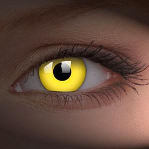 barevné čočky CRAZY glow yellow UV svítící 1ks