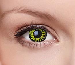 CRAZY yellow eclipse (1 roční čočka)