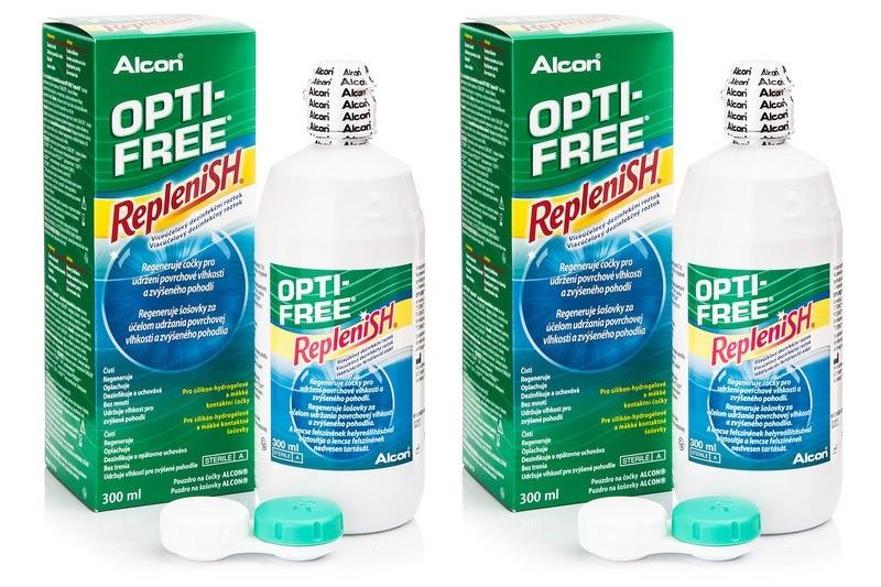 406651f0d Max-Optik kontaktné šošovky - roztok OPTI-FREE RepleniSH 2 x 300 ml ...