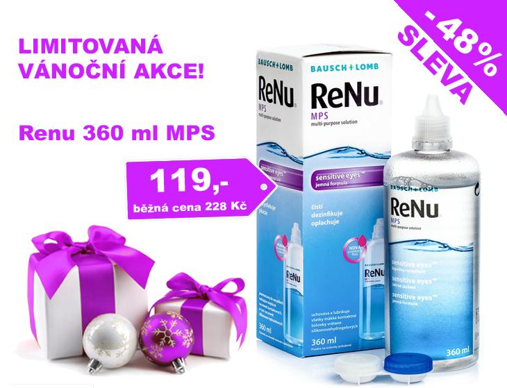 Akce -48% sleva na roztok ReNU MPS, cena jen 119 Kč, Do vyprodání zásob. Běžná cena 228 Kč.